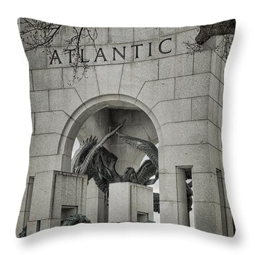 From The Atlantic Throw Pillow by Joan Carroll