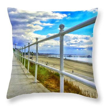 Throw Pillow featuring the photograph From The Bluff by Joseph Hollingsworth