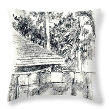 From The Breakfast Room Window Throw Pillow
