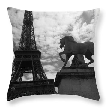 Throw Pillow featuring the photograph From The Bridge by Lisa Parrish