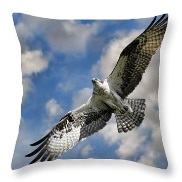 From The Clouds Throw Pillow by Steve McKinzie