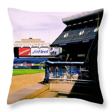 From The Dugout  The Yankee Stadium Throw Pillow