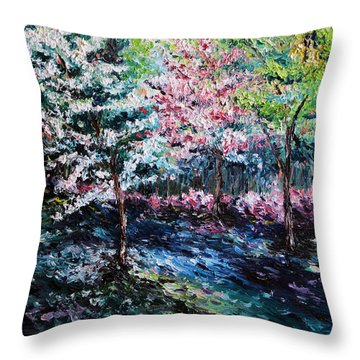From The Earth Throw Pillow by Meaghan Troup