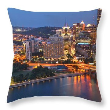 From The Fountain To Ft. Pitt Throw Pillow