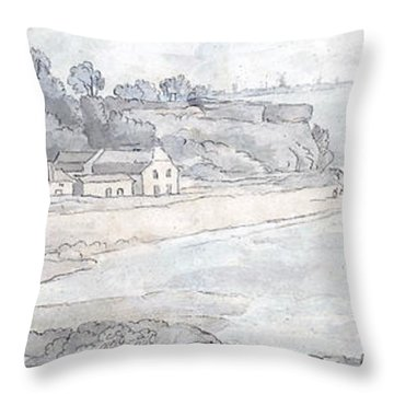 From The Heathfields Seat Throw Pillow by Francis Towne