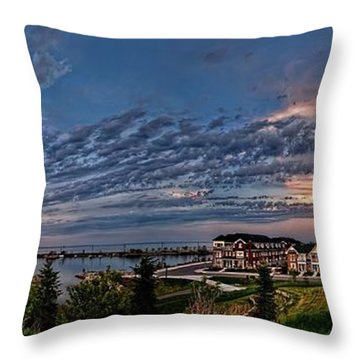 From The Hill Panorama Throw Pillow