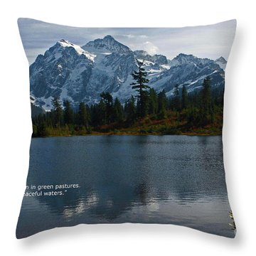 Throw Pillow featuring the photograph From The Hills by Rod Wiens