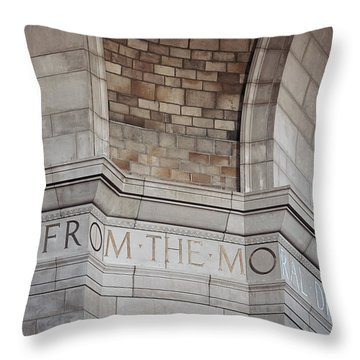From The Moral... Throw Pillow by Art Whitton