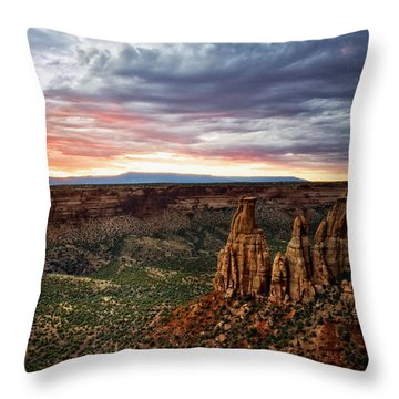 From The Overlook - Colorado National Monument Throw Pillow