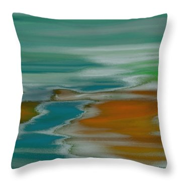 From The River To The Sea Throw Pillow