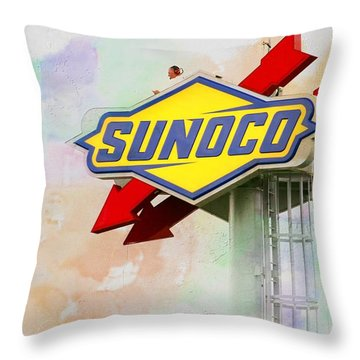 From The Sunoco Roost Throw Pillow