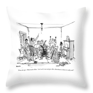 From The Top - 'watermelon Man.'  Let's Sock Throw Pillow
