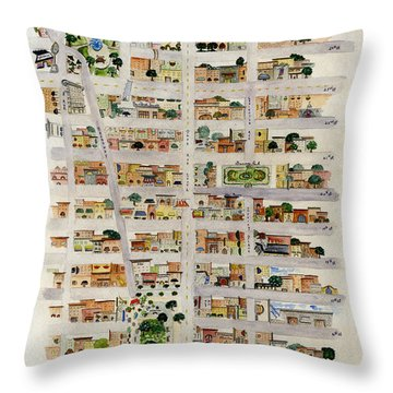 From Union Square To Madison Square Throw Pillow