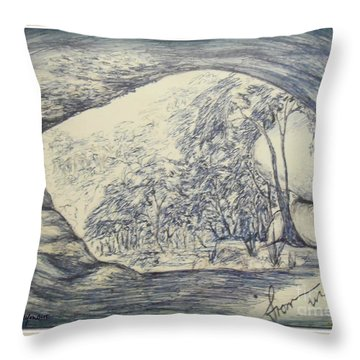 Throw Pillow featuring the drawing From Within by Leanne Seymour