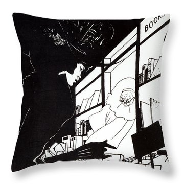 Front Cover Of The Prospectus For The Yellow Book Throw Pillow by Aubrey Beardsley