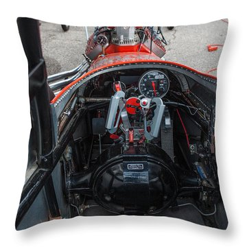 Front Engine Dragster Cockpit Throw Pillow