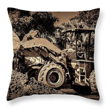 Front Loader-6 Throw Pillow