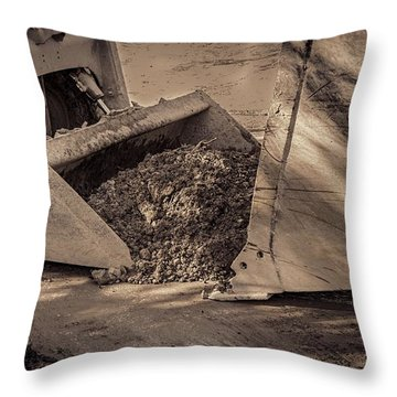 Front Loader Buckets Throw Pillow