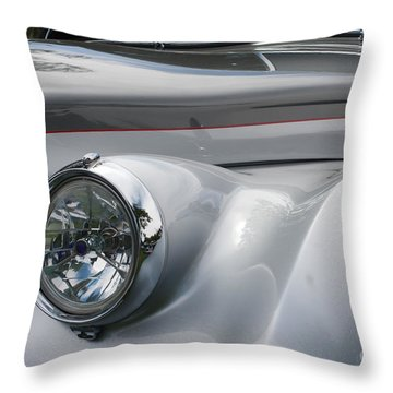 Throw Pillow featuring the photograph Front Of A Rolls Royce by Gunter Nezhoda