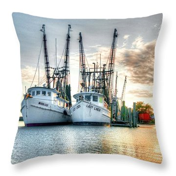 Front Of The Line Throw Pillow