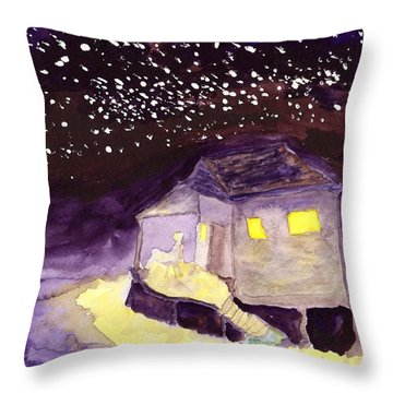 Front Porch Stars Throw Pillow
