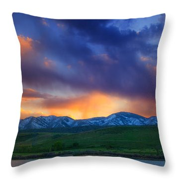 Front Range Light Show Throw Pillow