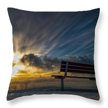 Front Row Throw Pillow
