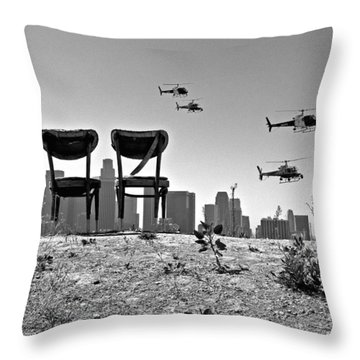 Front Row Seats Throw Pillow