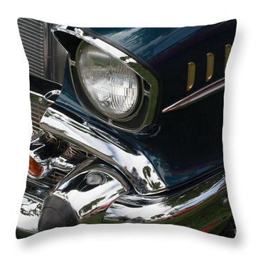 Front Side Of A Classic Car Throw Pillow