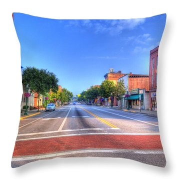 Throw Pillow featuring the photograph Front Street Marietta by Jonny D