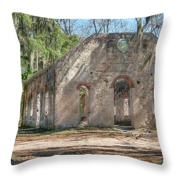 Front View Of The Chapel Of Ease Throw Pillow