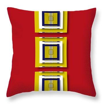 Throw Pillow featuring the digital art Frontdoor by Darla Wood