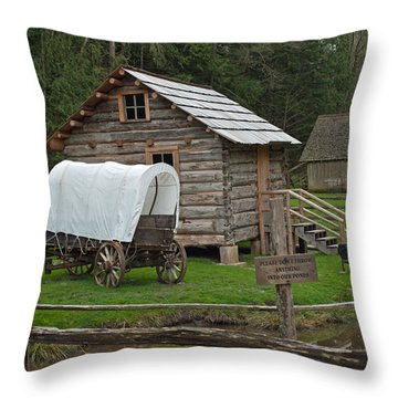Frontier Life Throw Pillow by Tikvah's Hope