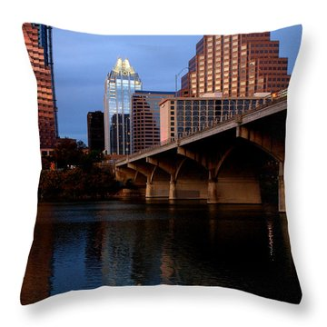 Frost Across The River Throw Pillow