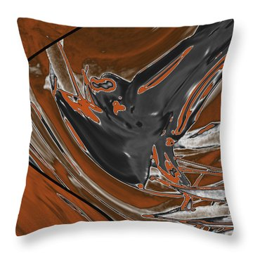 Throw Pillow featuring the digital art Frost And Woodsmoke 1 by Judi Suni Hall
