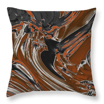 Throw Pillow featuring the digital art Frost And Woodsmoke  by Judi Suni Hall
