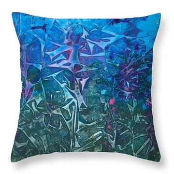 Lagoon Bloom Throw Pillow