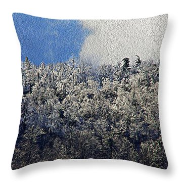 Frost Line 2 Throw Pillow
