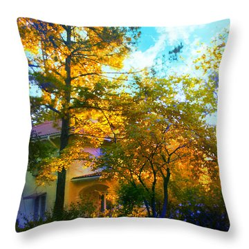 Frost On The Pumpkin Throw Pillow by Kat Besthorn