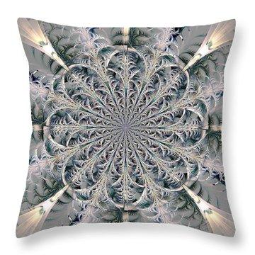 Frost Seal Throw Pillow by Anastasiya Malakhova