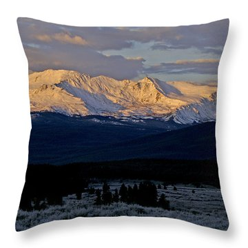Frost Settles In Throw Pillow by Jeremy Rhoades
