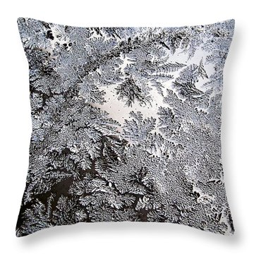 Frosted Glass Abstract Throw Pillow by Christina Rollo