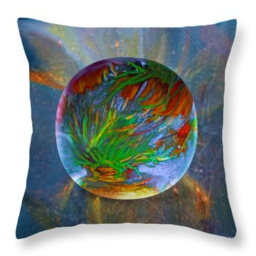 Throw Pillow featuring the painting Frosted Still by Robin Moline