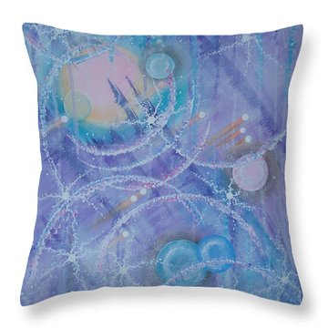 Frosticles Throw Pillow by Krystyna Spink