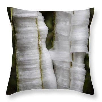 Frostweed Ice Curls Throw Pillow