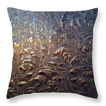 Frostwork Throw Pillow by Tim Good