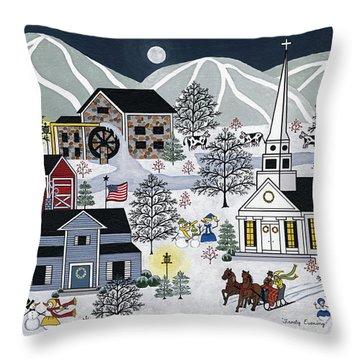 Frosty Evening Throw Pillow by Medana Gabbard