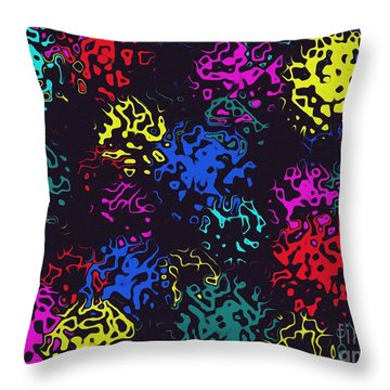 Throw Pillow featuring the photograph Frosty Marbles by Mark Blauhoefer
