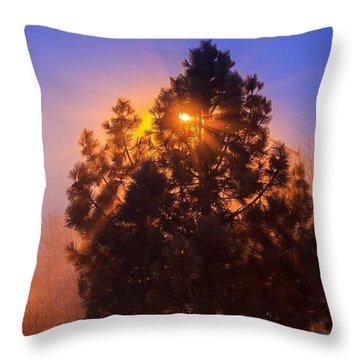 Frosty Sunrise 2 Throw Pillow