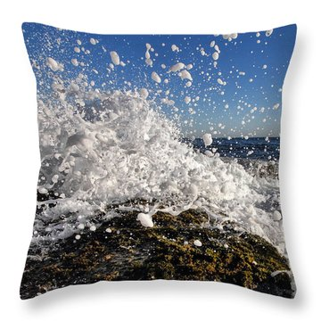 Froth And Bubble Throw Pillow